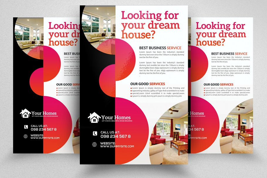 Real Estate Buy Sell Flyer Template
