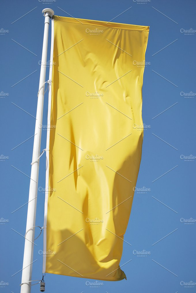 Yellow banner. Cleared flag - Business