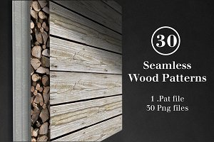 30 Seamless Wood Patterns