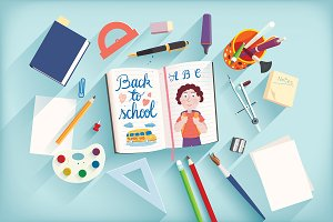 Back to school (vector design)