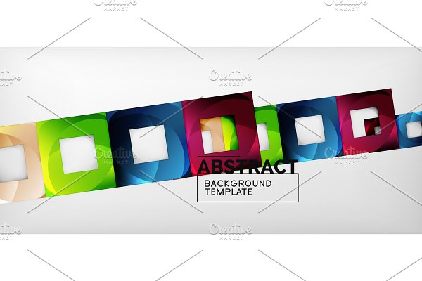 Background with color squares