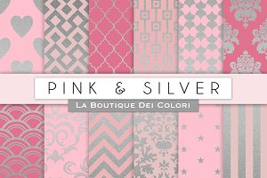 Pink & Silver Digital Paper