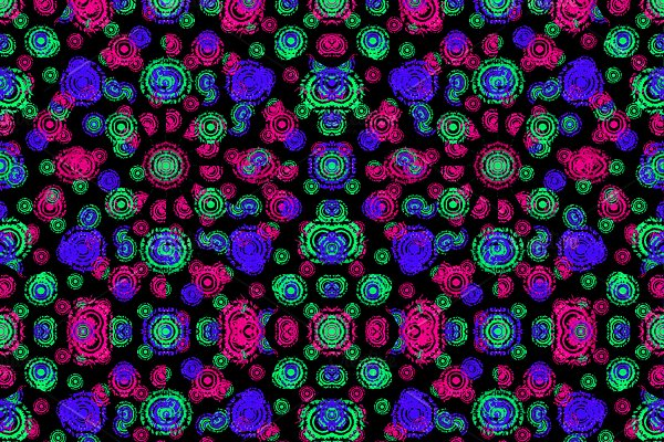 Multicolored Dark Intricate Circles