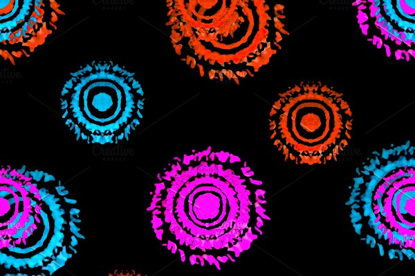 Multicolored Dark Circles Shapes Sea