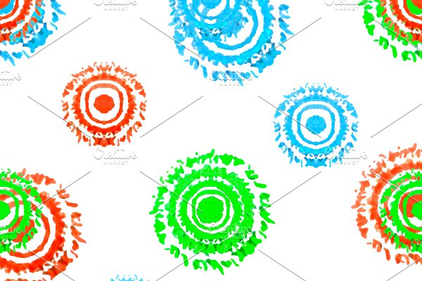Multicolored Circles Shapes Seamless