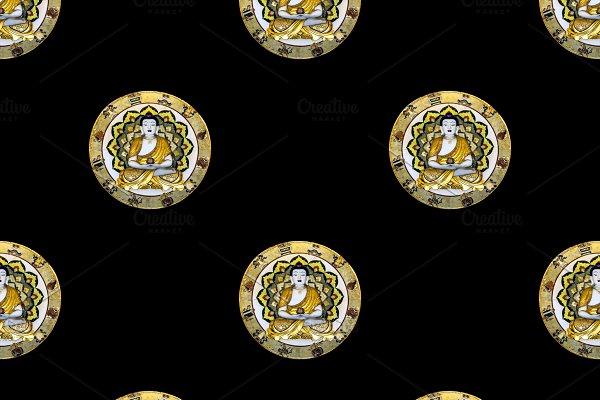 Buddhist Mandala Decoration Motif Se