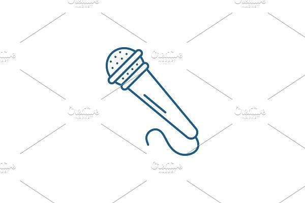 Microphone line icon concept