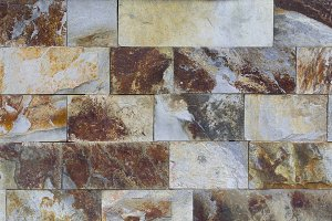 Tiled stone wall