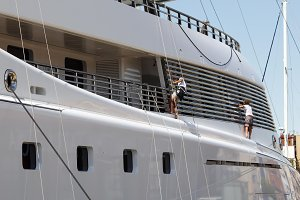 Luxury yacht maintenance