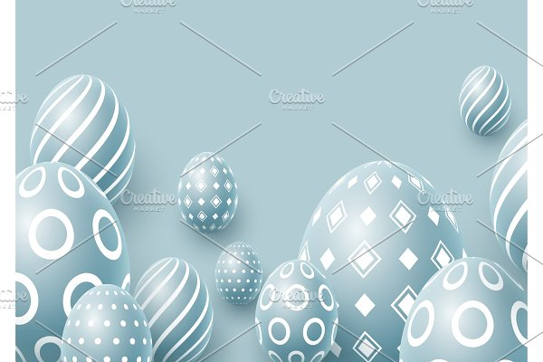 Abstract Easter blue background.