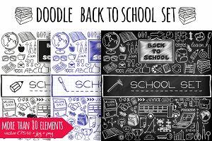 Doodle Back to School set