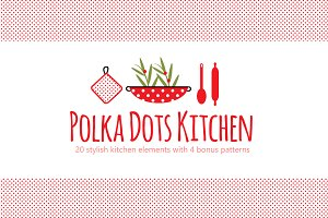 PolkaDot Kitchen Clipart & Patterns