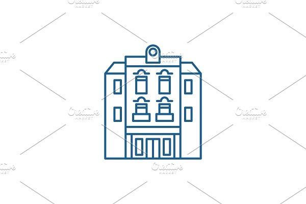 Multi storey building line icon