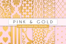 Pink & Gold Digital Papers