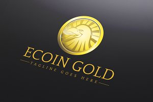 Ecoin Gold Logo Template