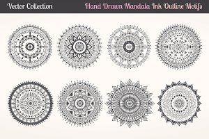 Mandala vector set