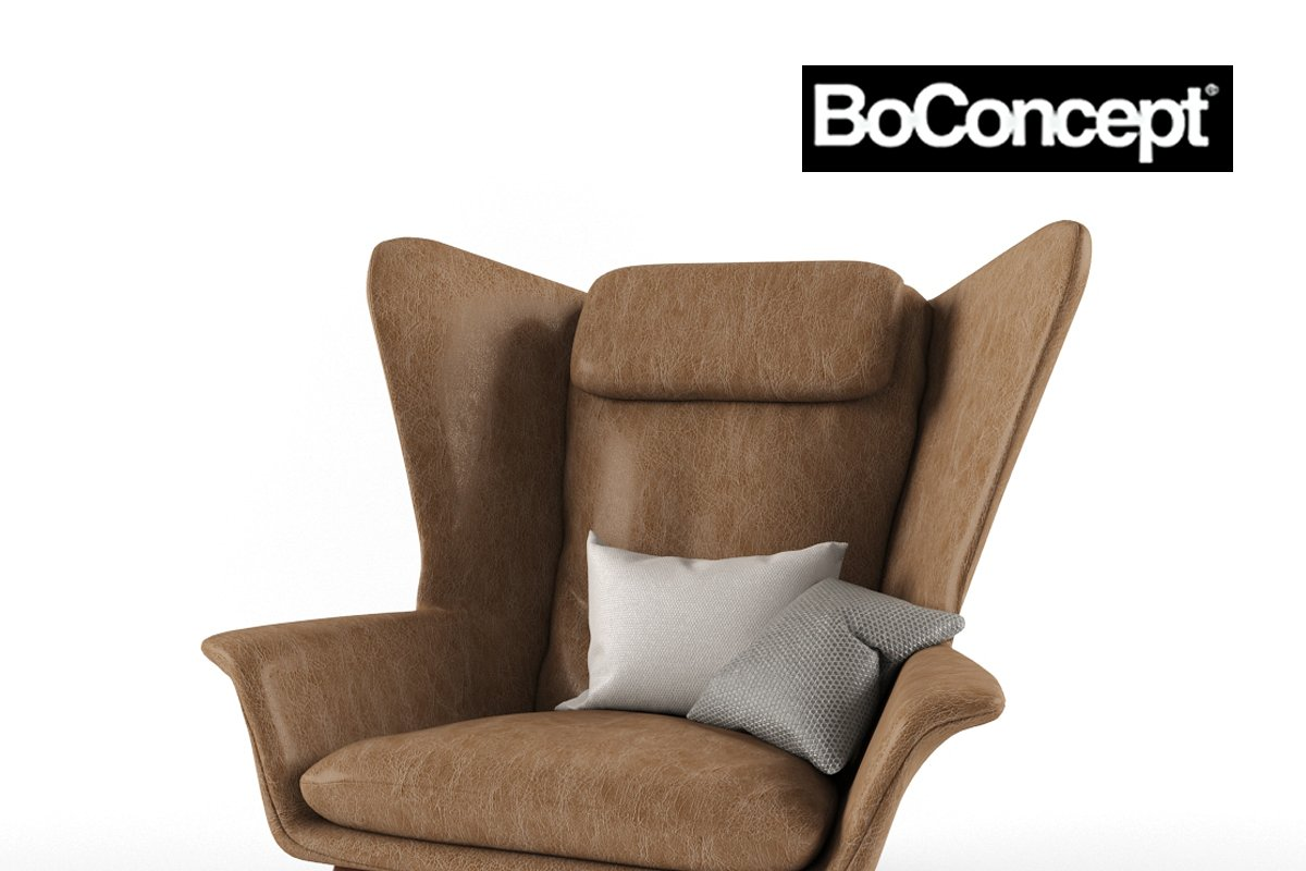 Wondrous Boconcept Hamilton Armchair 3D Model Furniture Models Caraccident5 Cool Chair Designs And Ideas Caraccident5Info