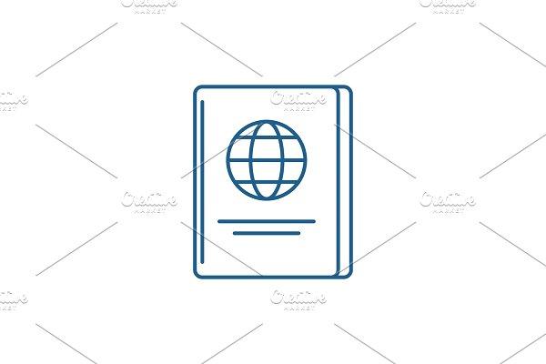 Passport line icon concept. Passport