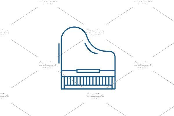 Piano line icon concept. Piano flat