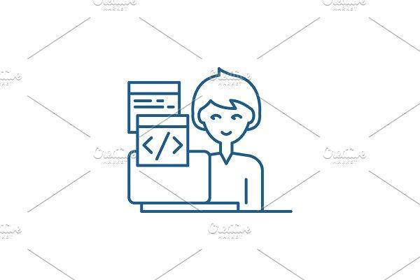 Programming line icon concept