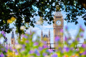 Icons of London in the summer time