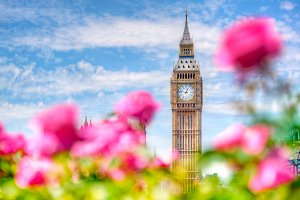 Big Ben seen from public garden
