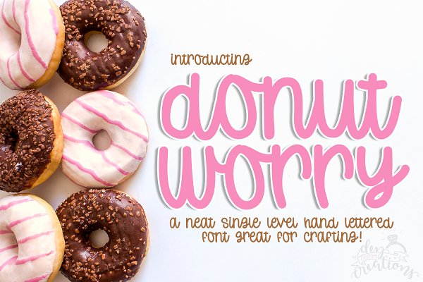 Donut Worry - A Hand-lettered Font