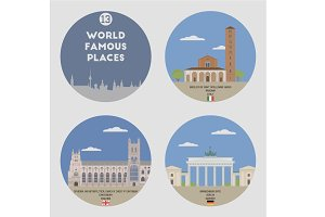 World famous places. Set 13