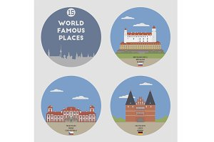 World famous places. Set 15