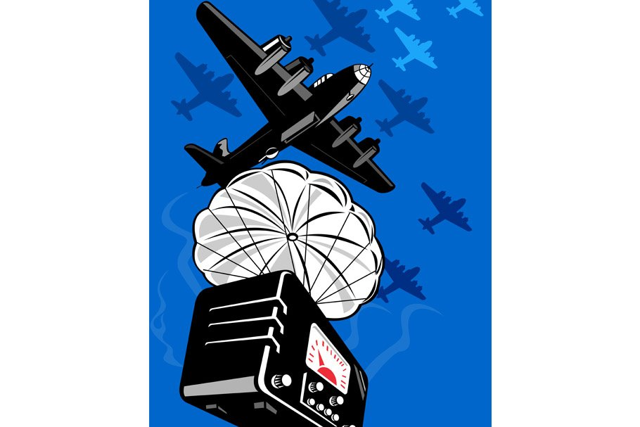 World War Two Bomber Dropping