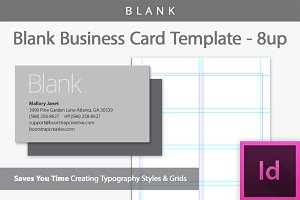 [Blank] Business Card Template 8-up