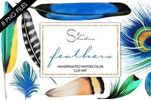 Feathers blue pack