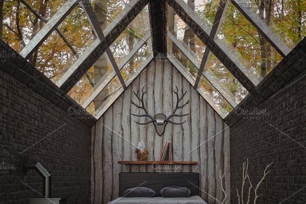 Cabin in the woods rendering