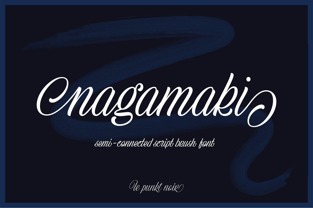 Nagamaki Brush Font ~ Script Fonts ~ Creative Market
