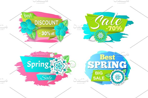 Spring Sale Seasonal Proposition of