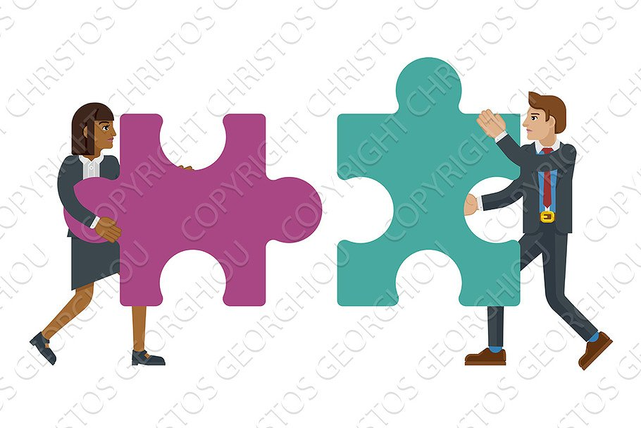 Puzzle Piece Jigsaw Characters