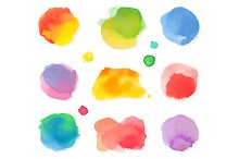 Watercolor painting icons
