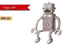 Funny Robot. Vector EPS 10