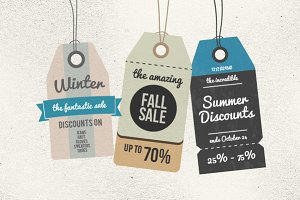 6 Retro Sale Tags
