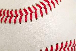 Baseball in full frame layout