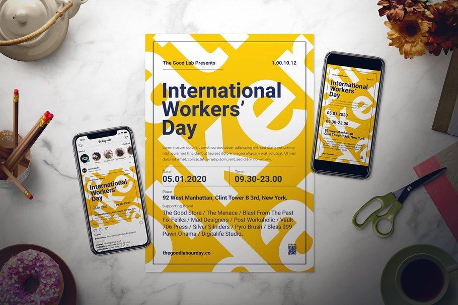 Labour Day Flyer Set