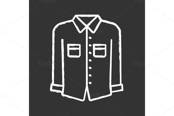 Formal shirt chalk icons