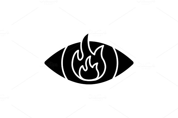 Anger glyph icon