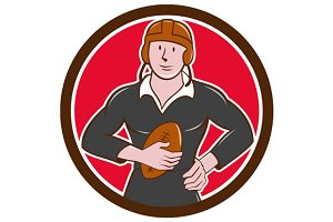 Vintage NZ Rugby Player Hold Ball Ci