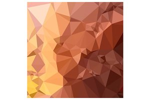 Cordovan Brown Abstract Low Polygon
