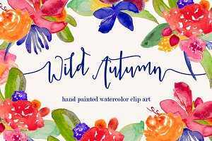 Wild Autumn Watercolor Clip Art