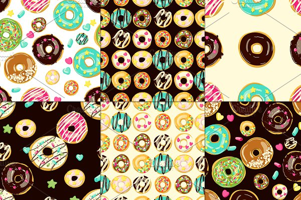 12 vector patterns with donuts