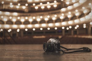 Film Camera on Stage