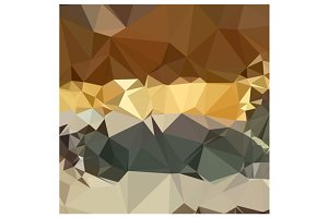 French Beige Abstract Low Polygon Ba