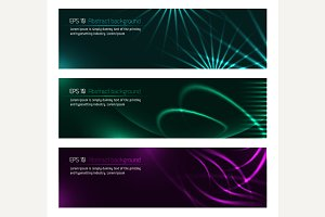 Dark design banners template for you